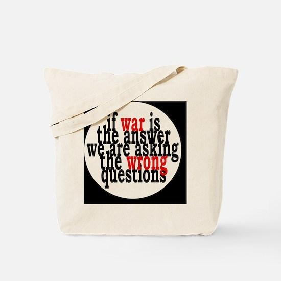 warquestionsbutton Tote Bag