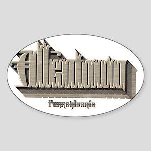 Allentown Pennsylvania Sticker (Oval)