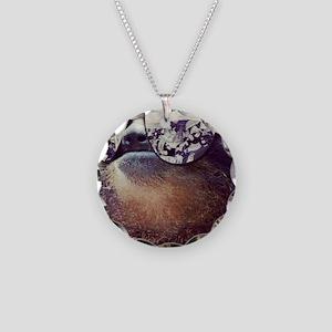 million dollar sloth Necklace Circle Charm