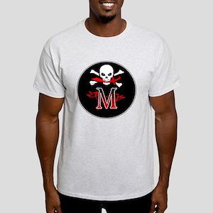 Jolly Roger M Initial Monogram T-Shirt