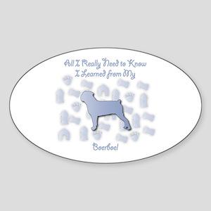 Learned Boerboel Oval Sticker
