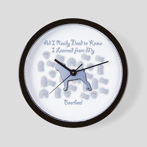 Learned Boerboel Wall Clock