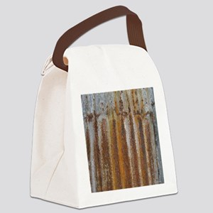 Rusty Tin Canvas Lunch Bag