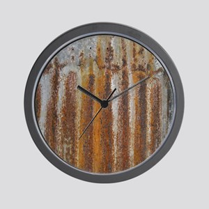 Rusty Tin Wall Clock