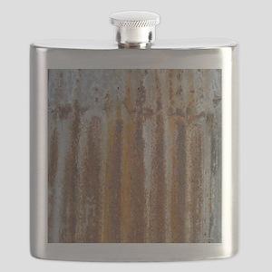 Rusty Tin Flask