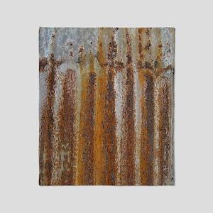 Rusty Tin Throw Blanket