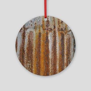 Rusty Tin Round Ornament