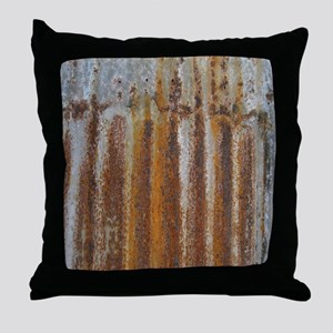 Rusty Tin Throw Pillow