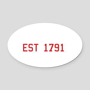 Second Amendment, Est. 1791 Oval Car Magnet