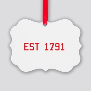 Second Amendment, Est. 1791 Picture Ornament