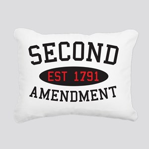Second Amendment, Est. 1 Rectangular Canvas Pillow
