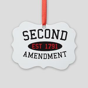 Second Amendment, Est. 1791 Picture Ornament