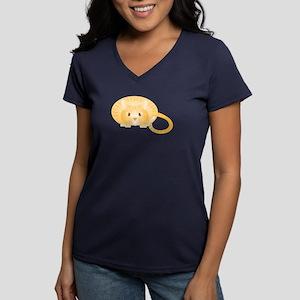 Ginger Women's V-Neck Dark T-Shirt