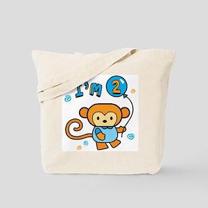 I'm 2 Lil Monkey Birthday Tote Bag