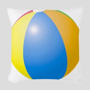 big beach ball Woven Throw Pillow