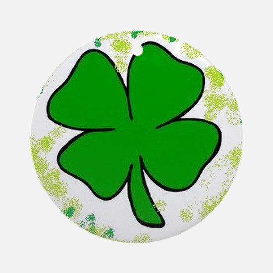 lucky clover Round Ornament