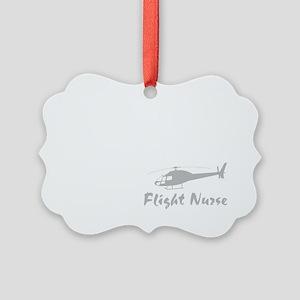 Flight nurse eat sleep repeat DAR Picture Ornament