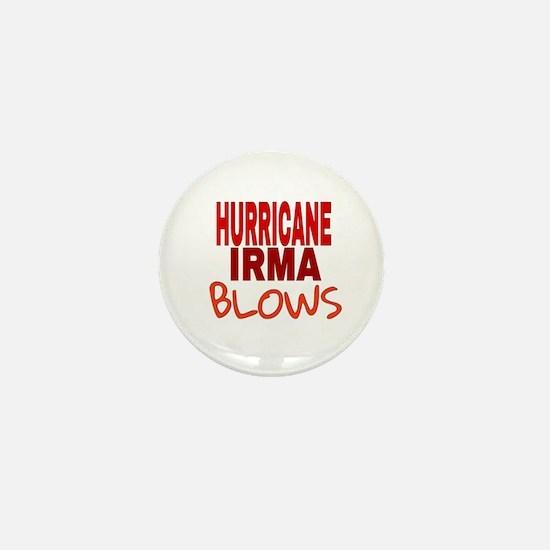 Hurricane Irma Blows Mini Button
