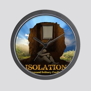 Isolation Poster Wall Clock