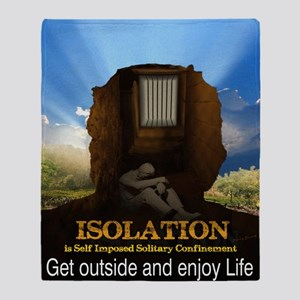 Isolation Poster Throw Blanket