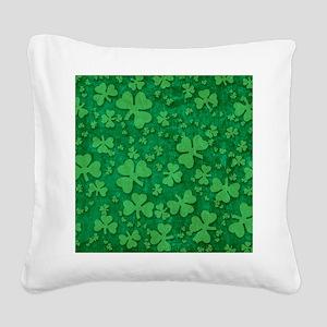 Shamrock Pattern Square Canvas Pillow