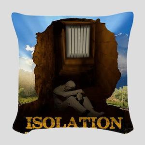 Isolation Poster Woven Throw Pillow
