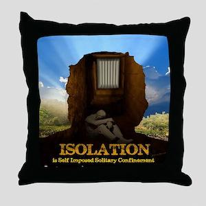 Isolation Poster Throw Pillow