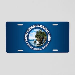 Kenai Fjords NP Aluminum License Plate