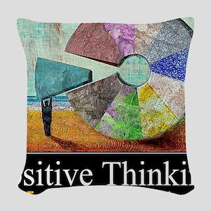 Positive Thinking Woven Throw Pillow