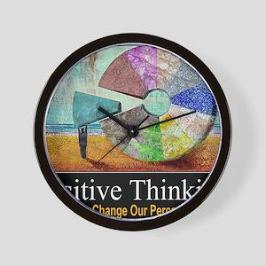Positive Thinking Wall Clock
