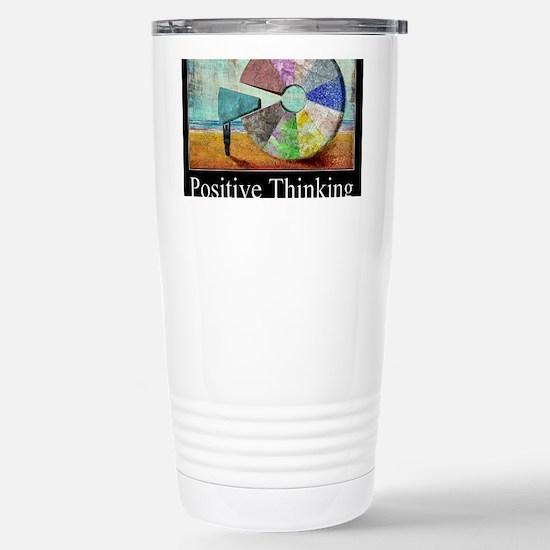 Positive Thinking Stainless Steel Travel Mug