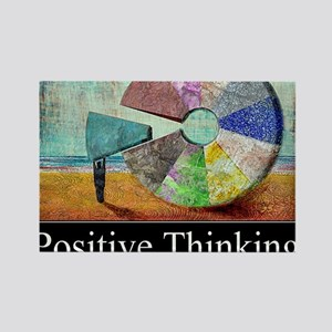 Positive Thinking Rectangle Magnet