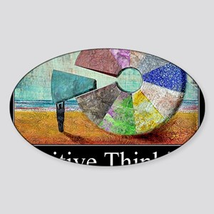 Positive Thinking Sticker (Oval)