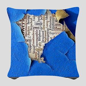 Depression Poster Woven Throw Pillow