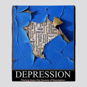 Depression Poster Throw Blanket