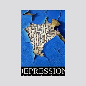 Depression Poster Rectangle Magnet
