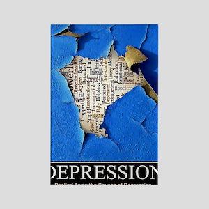Depression Poster Rectangle Magnet
