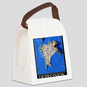 Depression Poster Canvas Lunch Bag