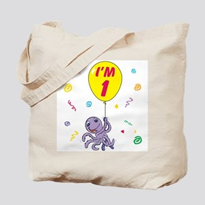 Octopus First Birthday Tote Bag