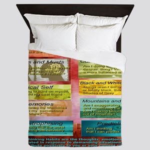 Unhelpful Thought Habits Queen Duvet