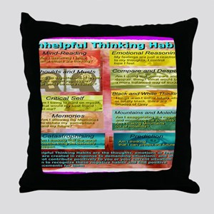 Unhelpful Thought Habits Throw Pillow