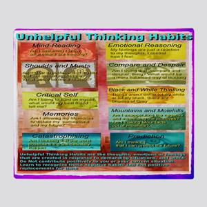 Unhelpful Thought Habits Throw Blanket