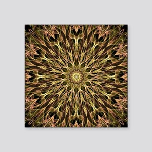 "Gold and Copper mandala Square Sticker 3"" x 3"""