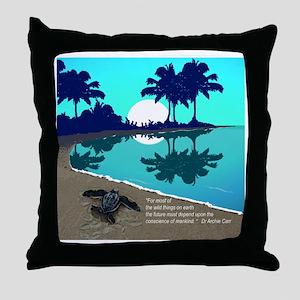 Blue Palms Designer All Over Throw Pillow