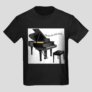 Music for the Soul (black pia Kids Dark T-Shirt