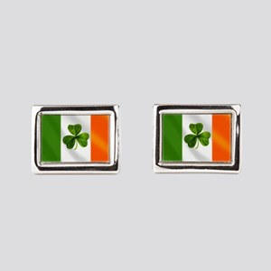 Irish Shamrock Flag Rectangular Cufflinks