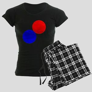 hg-zip_front_spa Women's Dark Pajamas