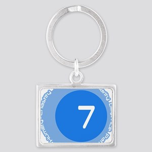 Seven 7 Virtues Number Design Landscape Keychain