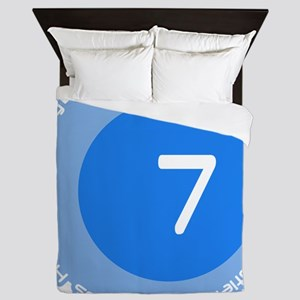 Seven 7 Virtues Number Design Queen Duvet