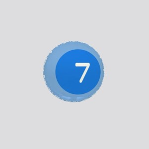 Seven 7 Virtues Number Design Mini Button